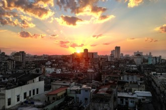 Sunset over the rooftops of Havana