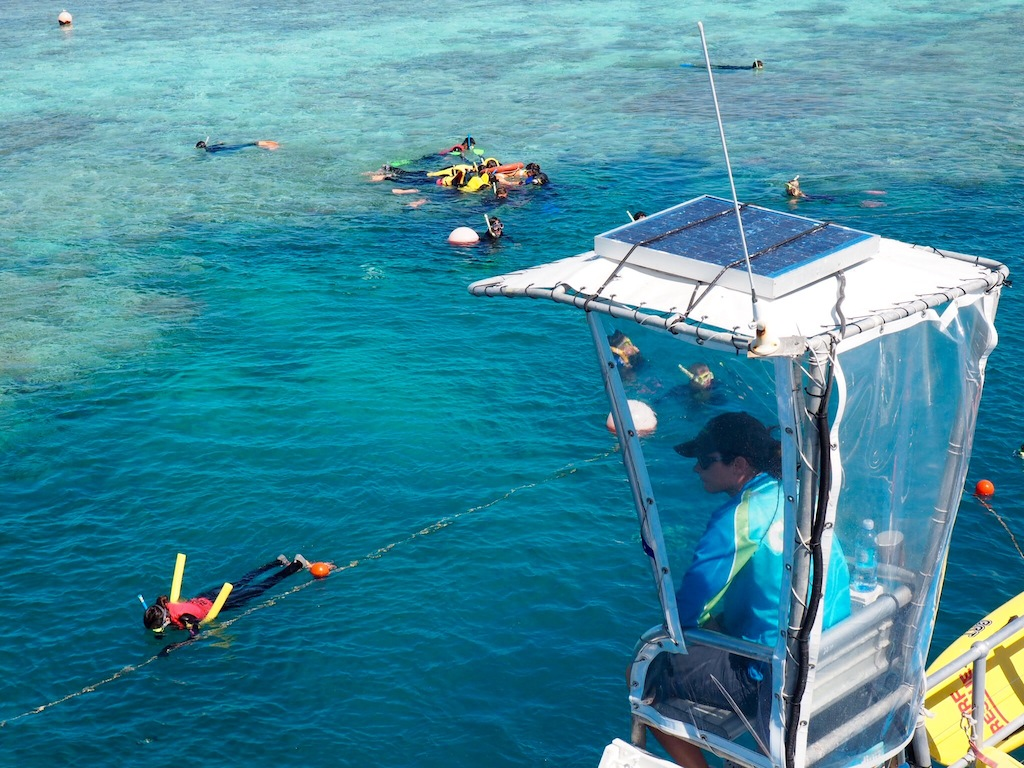 The team at Reef World look out for snorkellers