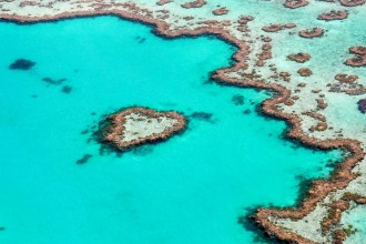 Our pilot looped the Heart Reef so we could see it from every angle.