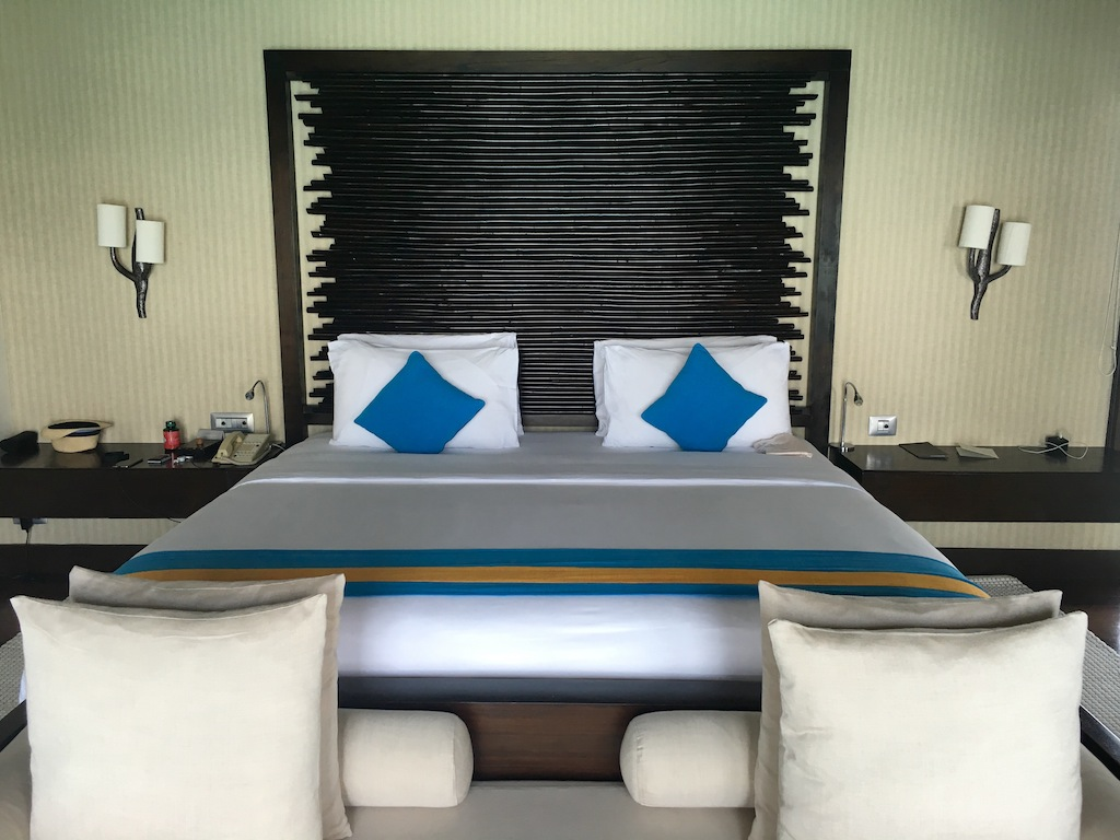 Super large bed and pillow menu at Coco Residences