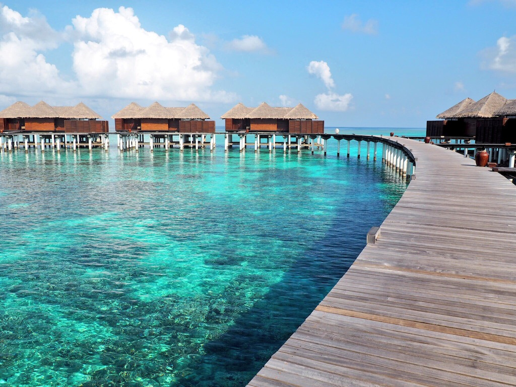 We woke up to this - our first glimpse of the Coco Residences at Coco Bodu Hithi Maldives