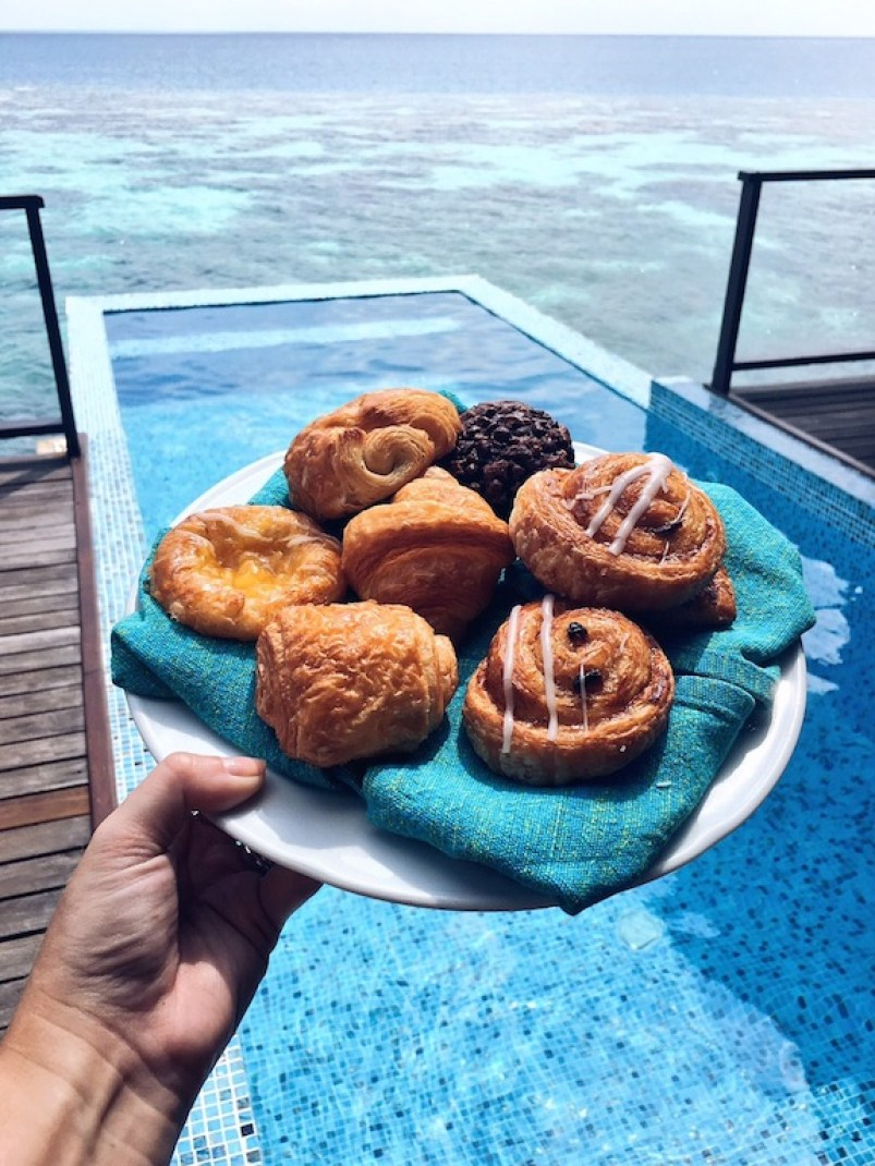 Poolside pastries - one of the best bits of in-villa dining