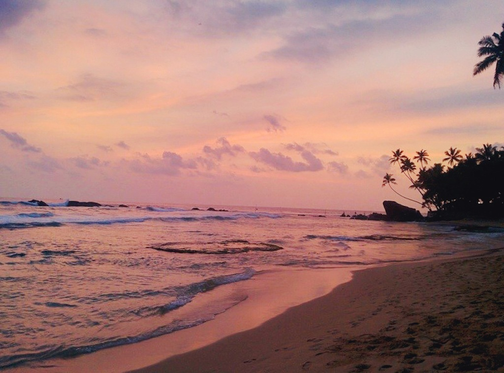 Watch the sunset over the Indian Ocean at Wijaya Beach