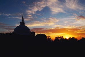 Sunsets and stupas in Sri Lanka