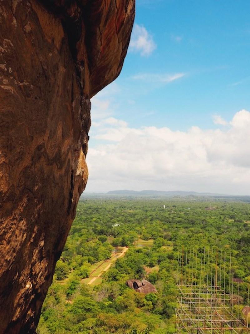 Enjoying the view as I climb Sigiriya