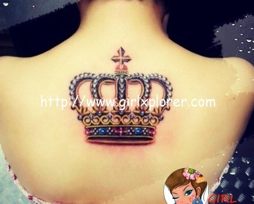 very-pretty-crown-tattoo-on-the-back-870
