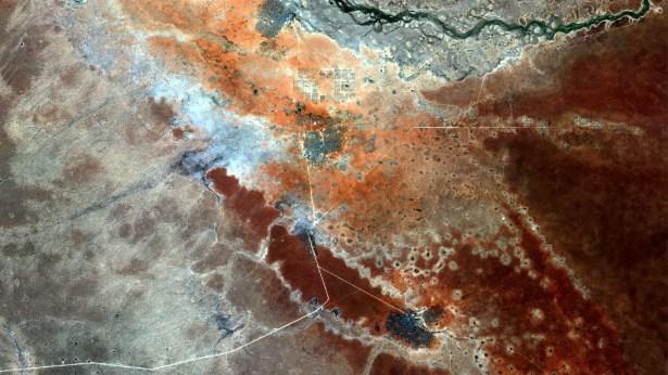 Satellite image of Dadaab in Kenya