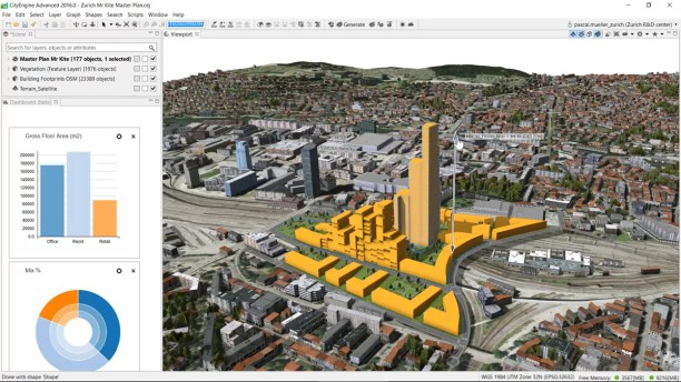 Esri's City Engine 2016 can design buildings and allows the consumption of elevation and basemaps from ArcGIS Online. Credit: Esri