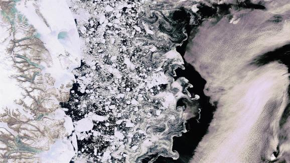 Sea ice in the Arctic Credit: DLR