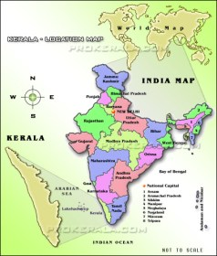 kerala-location-map-Land Utilization Modeling
