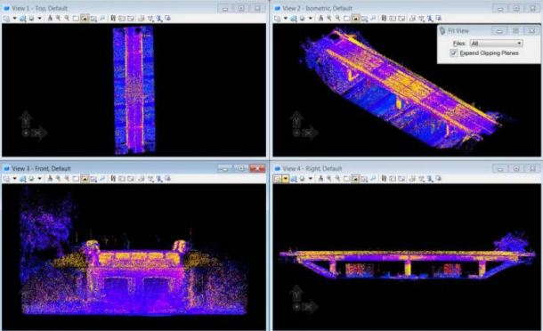 3D Visualization of Bridge Structure Using LiDAR Point Cloud Data. Credit: Ryan C. Hoensheid, Michigan Technological University