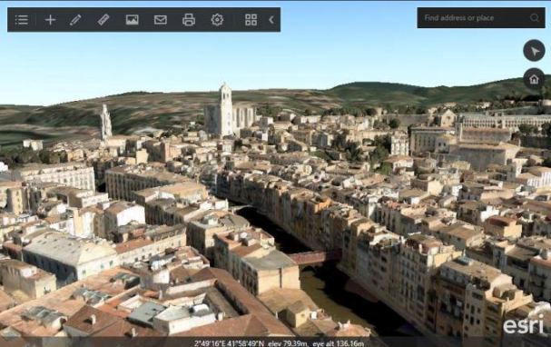 Integrated Mesh of Girona, Spain. Credit: OGC