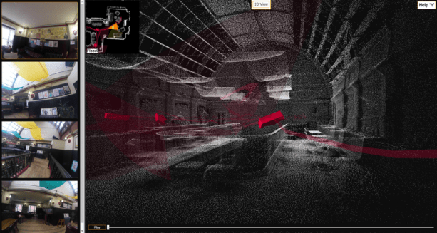 Contextual visual imagery viewed alongside the 3D point cloud in GeoSLAM Viewer