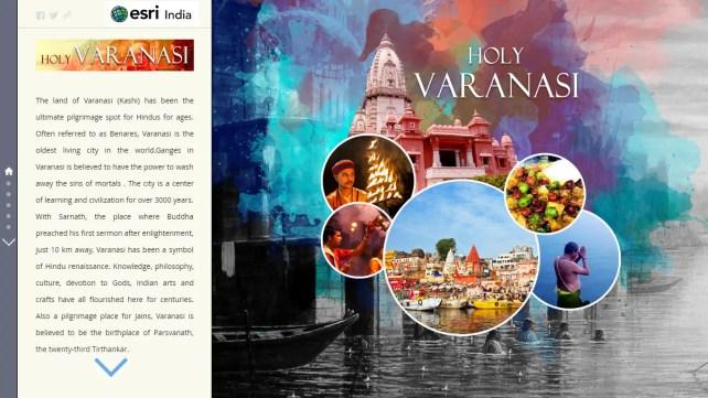 Esri Story Map - Holy Varanasi