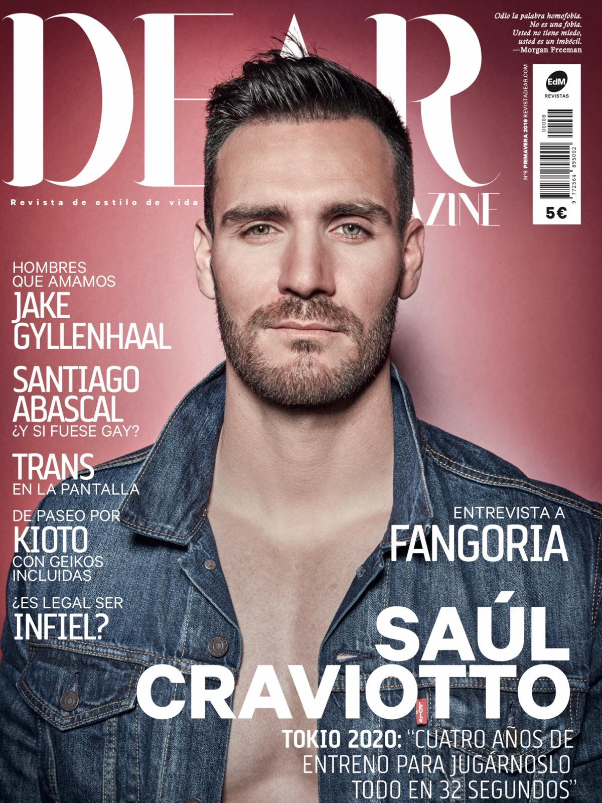 Dear magazine cover Saul Craviotto by Gissell Garcia