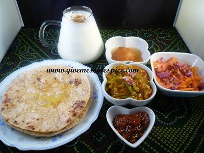 Cluster bean (guvar) curry and hot chapatis