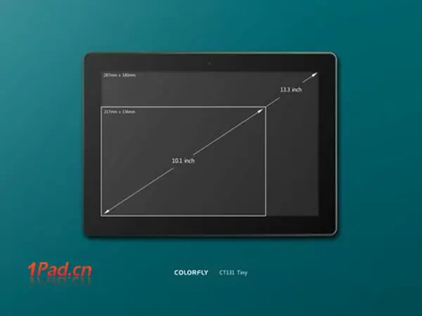 colorfly ct131 quad-core 13.3 inch tablet china