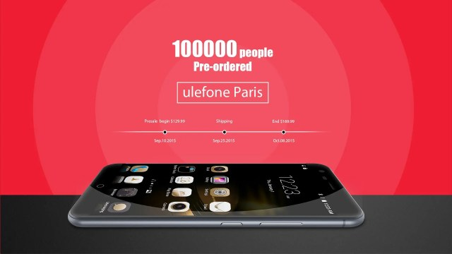 Ulefone Paris presale extended to 17th October