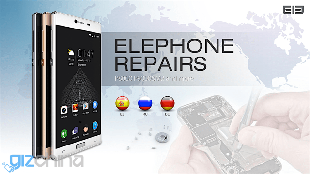 Elephone opening repair and service centers in Spain, Germany and Russia