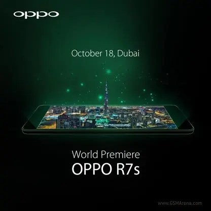 OPPO R7s set for a Dubai unveil later this month