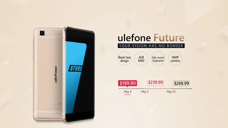 Ulefone Future presale starting May 4th with 199.99$ Flash Deal