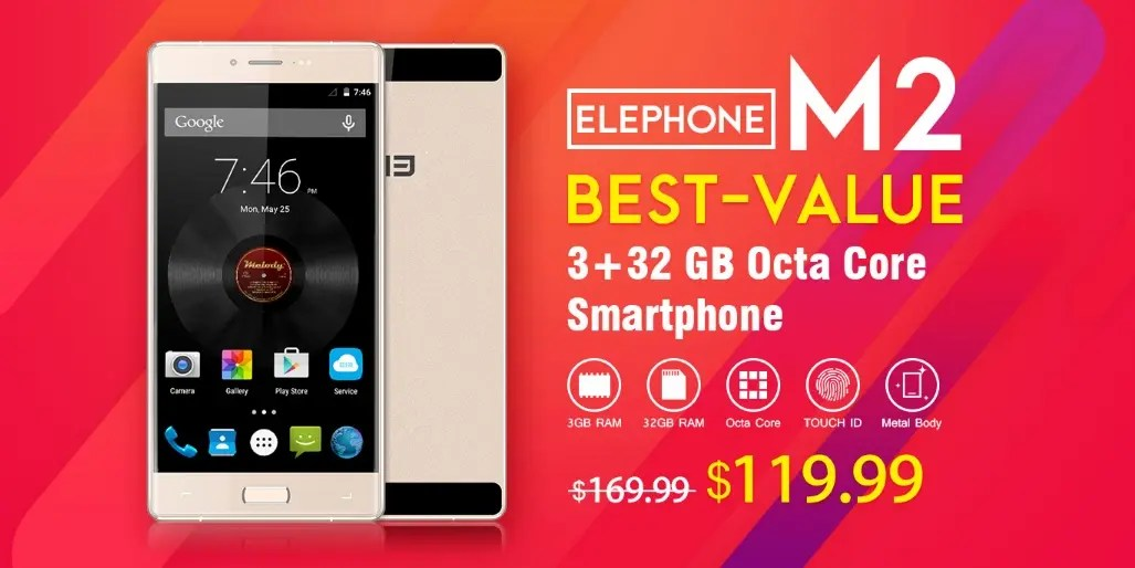 Elephone M2 available for a crazy price