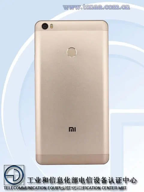 Xiaomi Max leaks again this time in detail thanks to TENAA