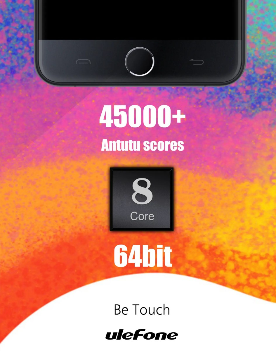 Ulefone Be Touch Teaser shows Touch ID style fingerprint scanner