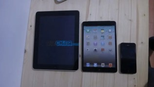 ipad mini compared to ipad and iphone 4