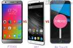 elephone p7000 vs mlais m7 vs be touch
