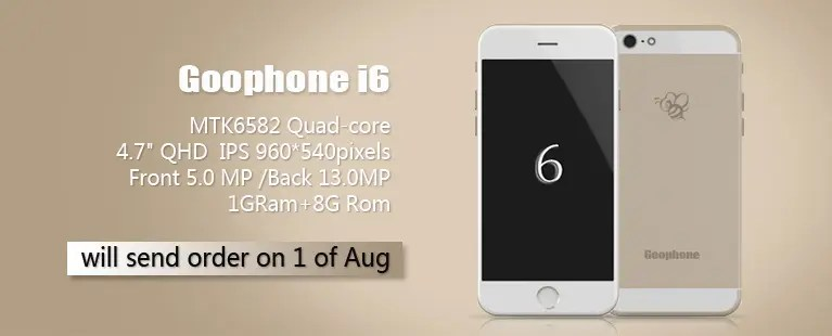 GooPhone announce GooPhone i6 iPhone 6 clone ahead of Apple