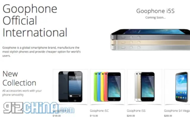 goophone international site Here are the 4 Best iPhone 5C clones running Android