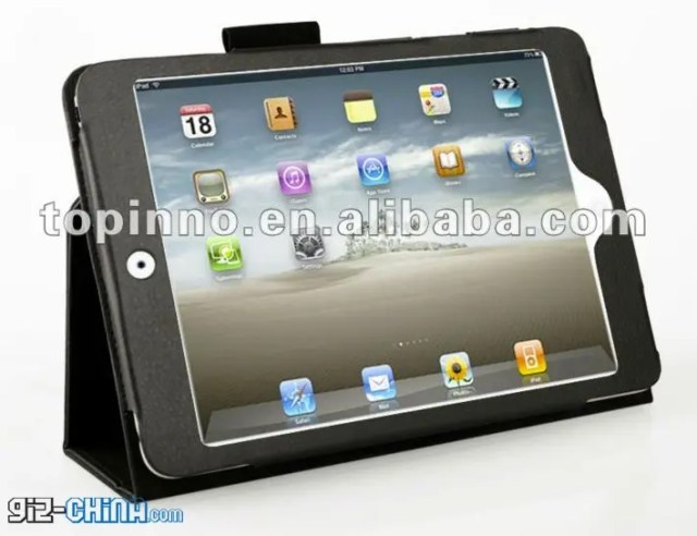 ipad mini thin bezel case leaked china Exclusive! iPad Mini Cases Show Rear Camera and mini dock connector