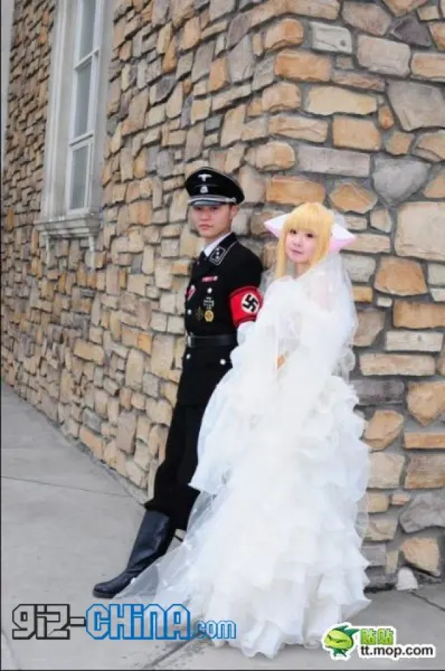 Chinese Nazi Cosplay Marriage!