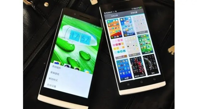 Chinese version of the Oppo Find 5 with international version