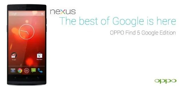 oppo find 5 google edition