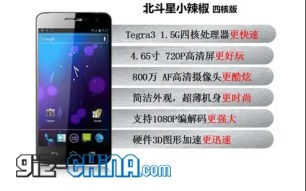 Beidou Little Pepper 4 core is World's Cheapest Quad Core Android 4.0 Phone