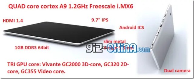 quad core new ipad clone android tablet China's First Quad Core Android Tablet is a New iPad Knock Off