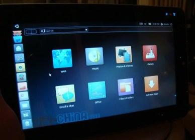 ubuntu linux tablet menu screen More Ubuntu Tablet Details Surface