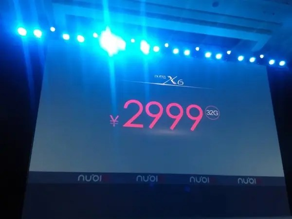 x6 32g price Update: Nubia X6 launched with 6.44 inch 1080 display, dual SIM and Snapdragon 801