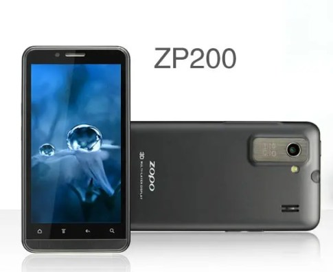 zopo zp200 1 Zopo Launches Android 4 Glasses free 3D Phone $299
