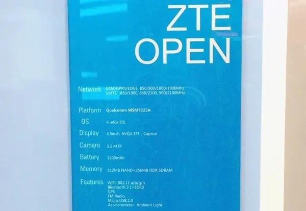 zte open firefox os specification