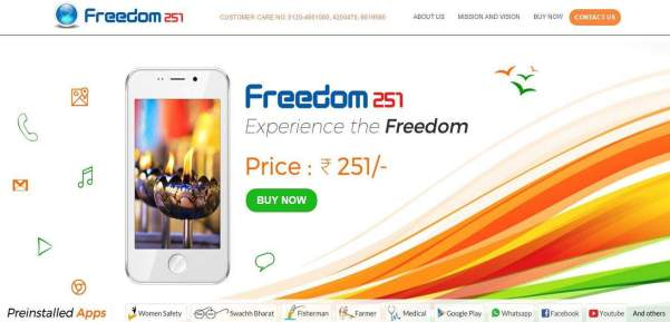How to Book Freedom 251 smartphone