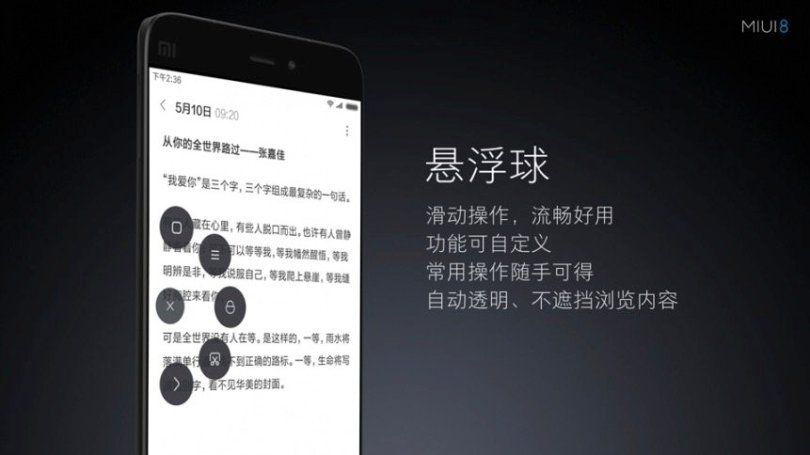 MIUI 8 Suspension ball
