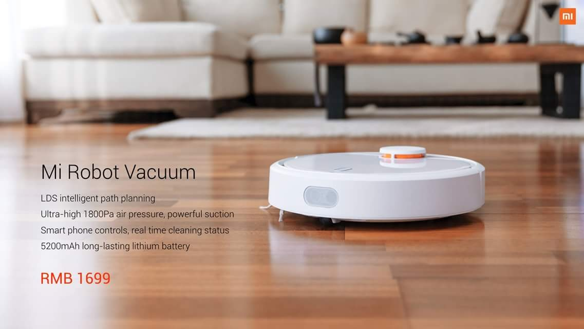 Xiaomi unveils smart home cleaning robot