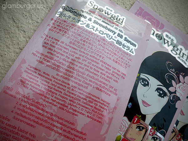 Snowgirl Japan Glutathione & Strawberry BB Serum