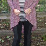 Fall Look – Long Cardigan, Stripes and Leggings