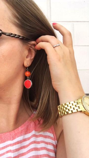 Orange/Coral Earrings