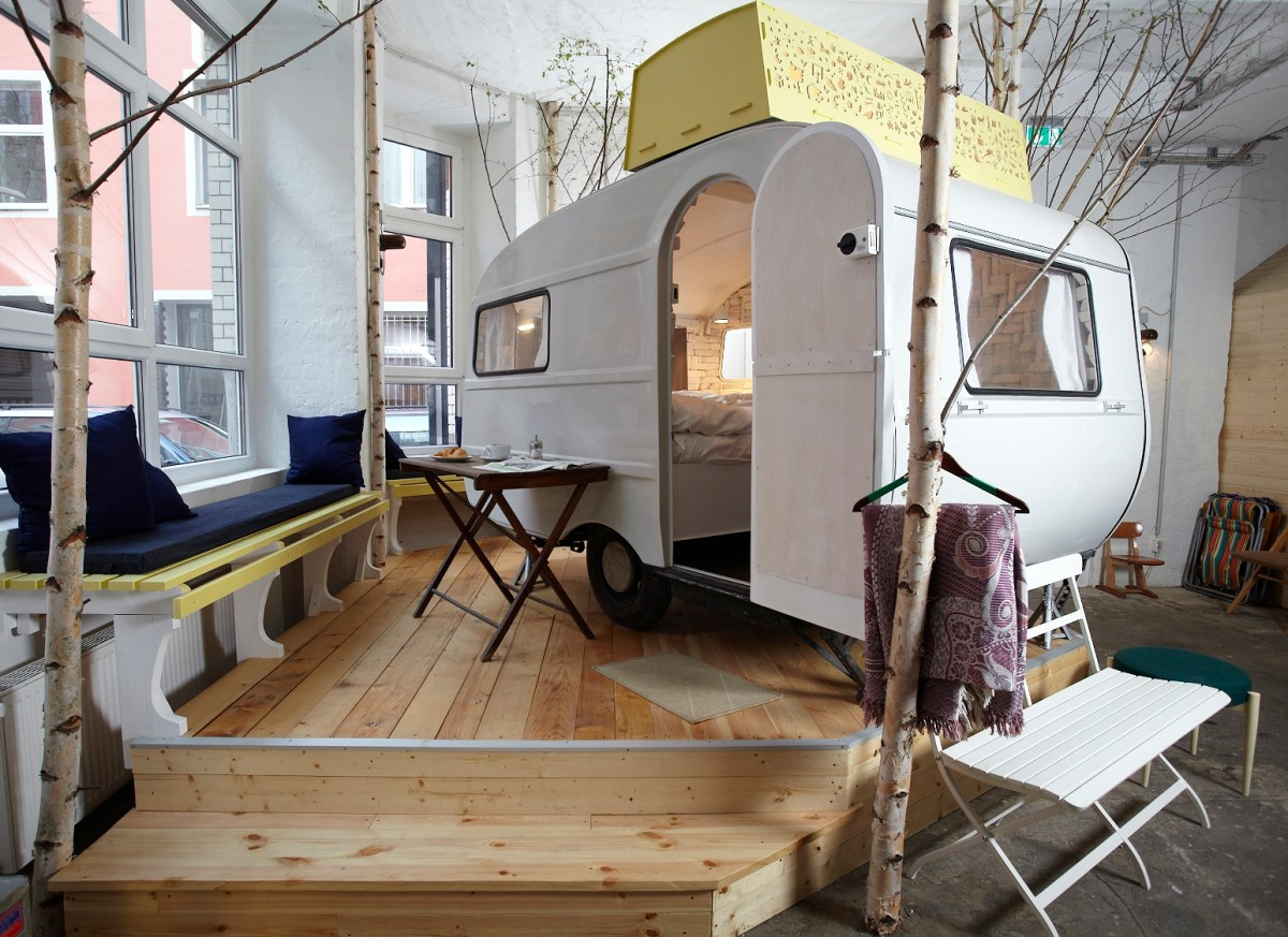 Outdoor Americana Goes Indoors in Western Europe as Faux Camping Takes Shape
