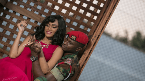 Sonia Ibrahim And Her Soldier Sweetheart Look Endearing In Their Pre-Wedding Photoshoot